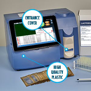 Lactoscan SCC is made from high quality plastic and has an entrance cover.