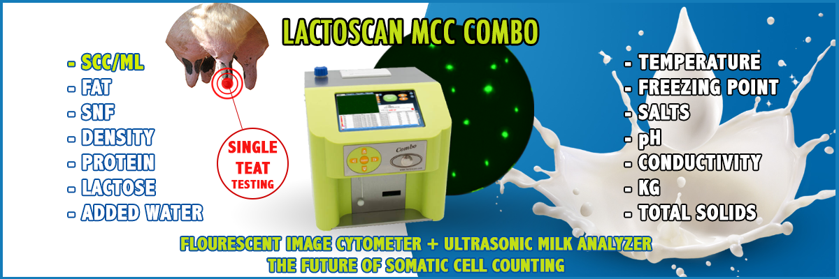 Somatic cell counter + ultrasonic milk analyzer = Milk Colecting center