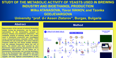 STUDY OF THE METABOLIC ACTIVITY OF YEASTS USED IN BREWING INDUSTRY AND BIOETHANOL PRODUCTION