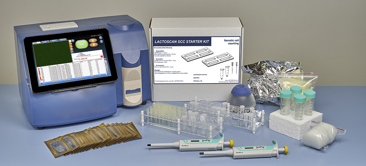 Lactoscan SCC comes with all you need in the package.