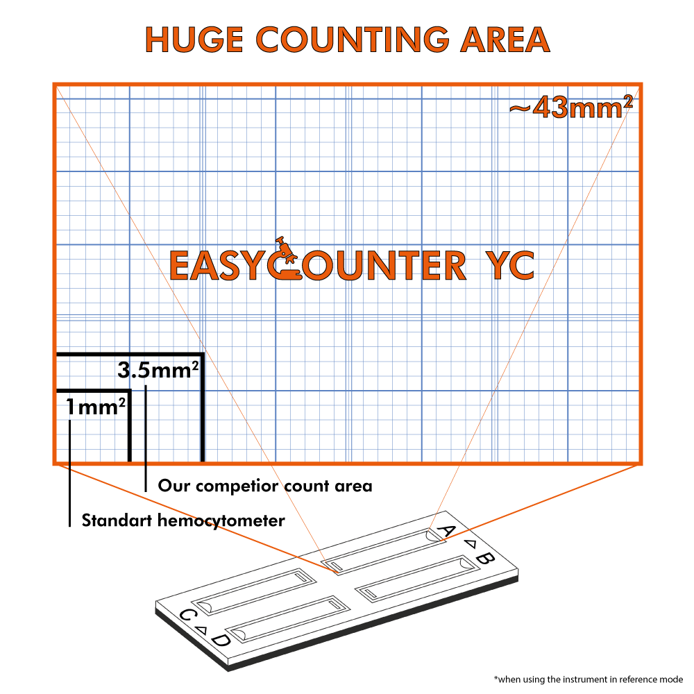 counting area of yeast counter